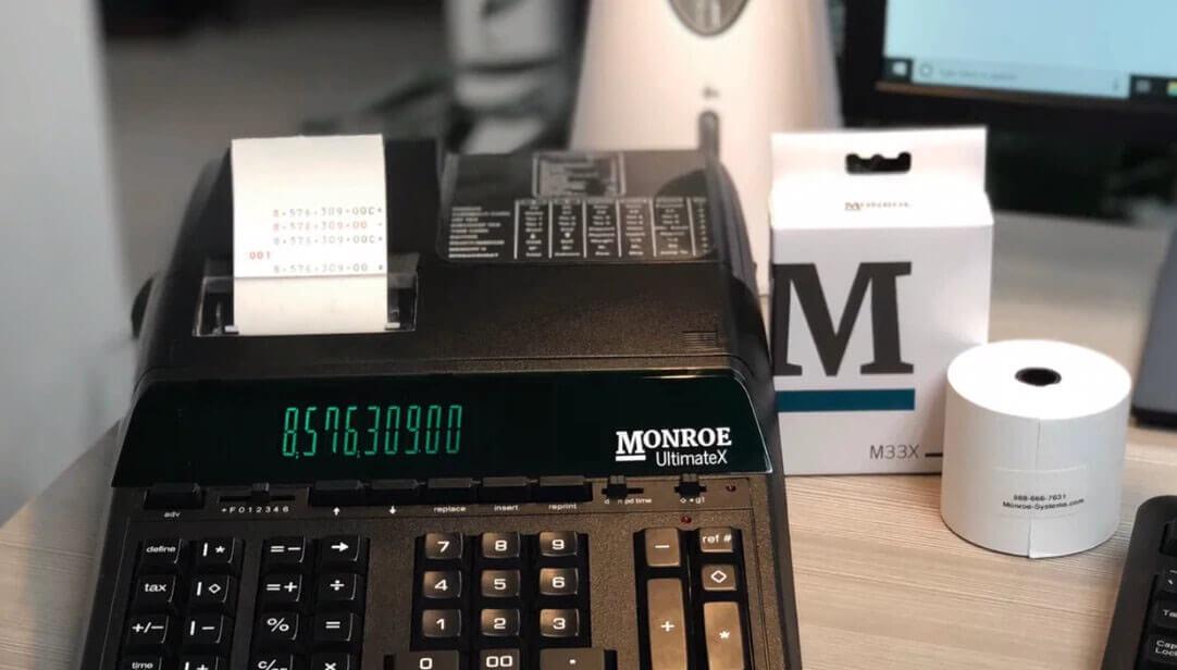 How to Use a Printing Calculator and Adding Machine | Monroe