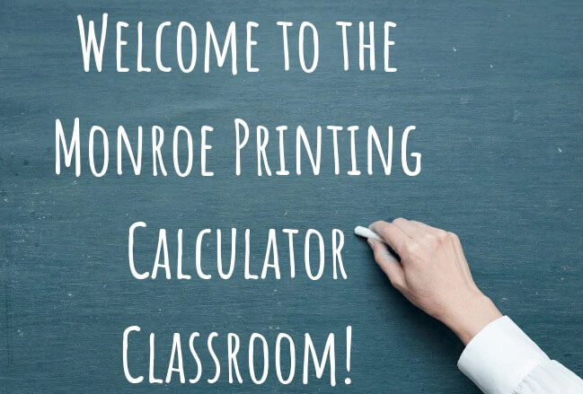 How to Use a Printing Calculator and Adding Machine | Monroe